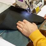 Tkanina dystansowa pozwala usztywnić dół worka aby wyglądał dobrze również gdy jest pusty